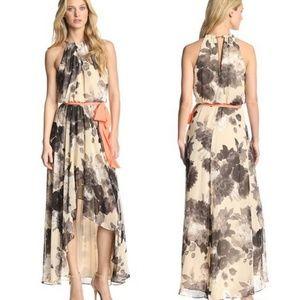 ELIZA J (Nordstrom) Floral Chiffon Hi-Low Dress